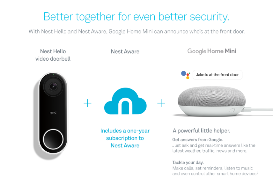 $30 off Nest Hello Video Doorbell with One-Year Nest Aware