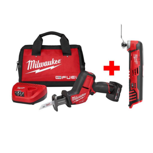 Milwaukee M12 FUEL 12-Volt Lithium-Ion Brushless Cordless HACKZALL Reciprocating Saw Kit W/ Free M