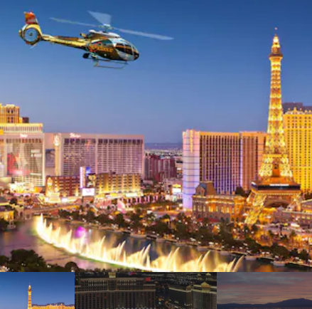 Helicopter City Lights with Limo & Champagne