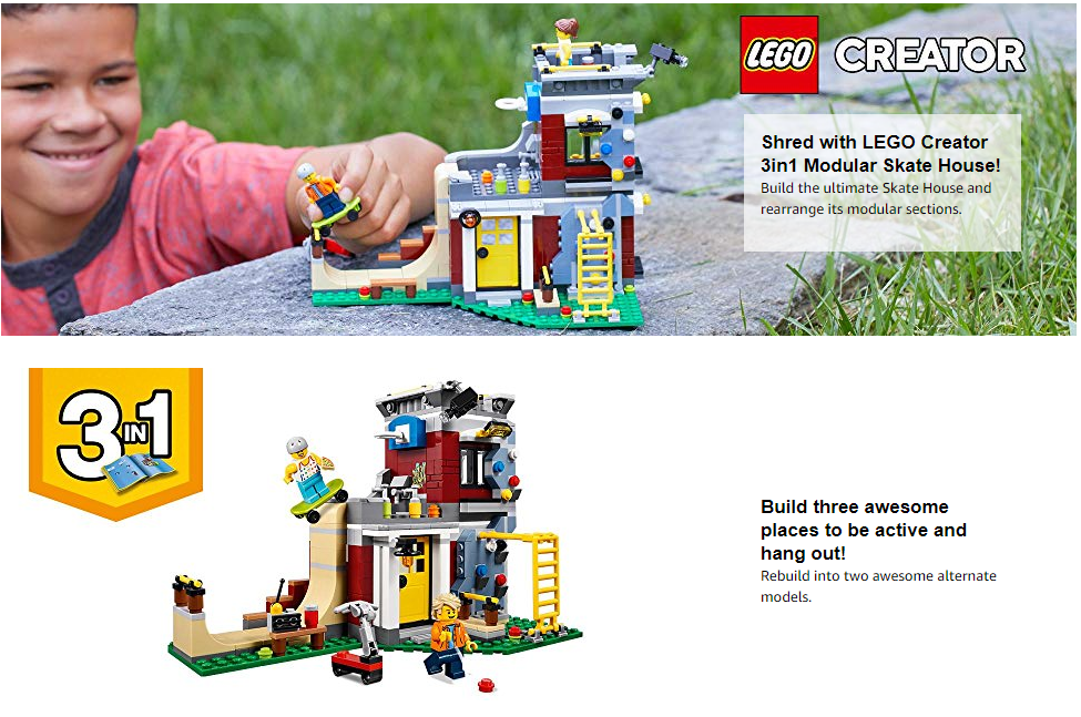 LEGO Creator 3in1 Modular Skate House 31081 Building Kit @ Amazon