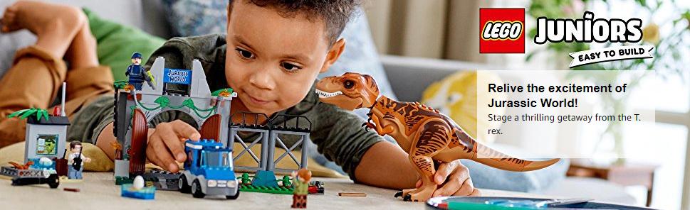 rex Breakout 10758 Building Kit LEGO Juniors//4 Jurassic World T 150 Piece