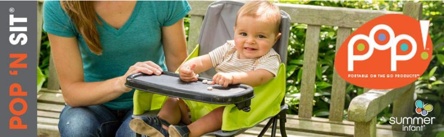 Green Summer Infant Pop And Sit Portable Highchair
